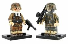 US SELLER*** 2pcs WW2 CUSTOM German Army & Weapons Military Minifigures Block