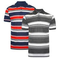 Mens Polo Shirts Summer Tee Striped Short Sleeve Casual Collar Value Shirt S-XXL