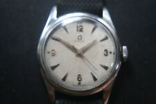 VINTAGE OMEGA 17 JEWELS BEAUTIFUL AGE PATINA SILVER WHITE DIAL 1960'S WRISTWATCH