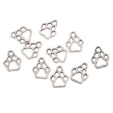 10pcs Dog Footprint Beads Charms Tibetan Silver Pendant DIY Bracelet 12*11mm