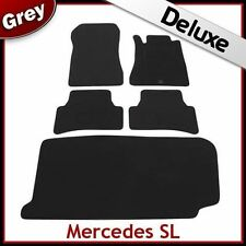 Tailored Car & Boot Mats LUXURY 1300g for MERCEDES SL 1972 1973 1974...1989 GREY