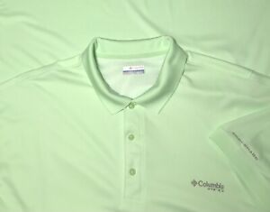 Columbia PFG Omni Shade Breatheable Fishing Polo Shirt Men's 3XL XXXL Neon Green