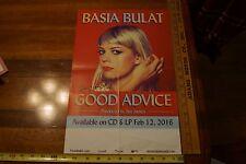 BASIA BULAT - Good Advise  --  Original Promo Poster 11x17