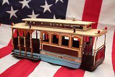 CABLE TRAM CAR SAN FRANCISCO tin toy tinplate car blechmodell handmade