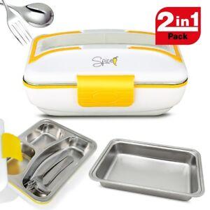 SPICE Amarillo Inox Trio Scaldavivande portatile Lunch Box 40 W 1litro + Set 2 V