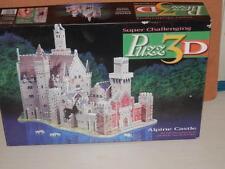 PUZZ 3-D ALPINE CASTLE 3-D PUZZLE 1000 PIECES MINT COMPLETE IN BOX