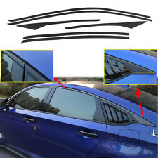 Carbon Fiber Vinyl Window Decal Trims Kit For Honda Accord Sedan 2018-2020