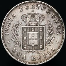 More details for 1881 | india portuguese luiz i 1 rupia | silver | coins | km coins