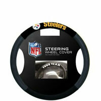 NFL Pittsburgh Steelers Poly-Suede Steering Wheel Cover