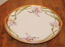 Antique Hand Painted Lily KPM Porcelain Cake Plate Tray Artist Signed W.Wilson