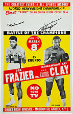 Muhammad Ali vs. Joe Frazier Closed Circuit Poster 1971 Large Format 24x36