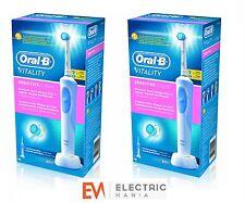 2 x Braun Oral-B vitalité Brosse à dents électrique rechargeable nettoyage