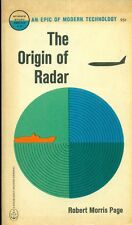 THE ORIGIN OF RADAR by Robert Morris Page (1962) Anchor Doubleday illust pb 1st