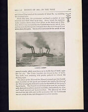 US Ram Queen of the West Collision near Memphis -- 1898 Page of History