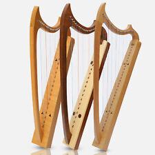 Neu Muzikkon 19 & 29 Saiten Gothic Harfe Buchenholz Palisanderholz,Irische Hebel