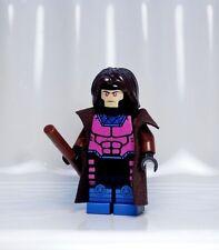 A158 Lego CUSTOM PRINTED X Men Force Superhero INSPIRED GAMBIT MINIFIG Rogue