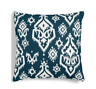 "Hallmart Collectibles Blue Ikat Medallion 18"" Square Decorative Pillow"
