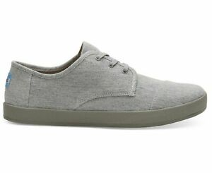 TOMS 10014085 Men's Paseo Drizzle Grey Sneakes Footwear Shoes SIZE 10.5