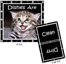 TABBY CAT  (Kitten Smiling) - Dishwasher MAGNET (Clean/Dirty)  SHIP FREE!
