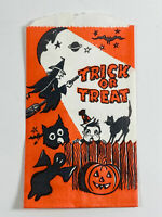 Vintage Litho Halloween Trick or Treat Candy Bag ghost owl MANY AVAILABLE