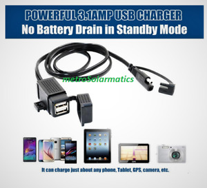 WaterLiLy Turbine Accessory-SAE to Dual USB Charger GPS Phone Tablet Waterproof