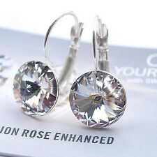 925 Sterling Silver Earrings Paradise Shine 12mm Crystals From Swarovski