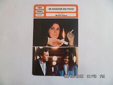 CARTE FICHE CINEMA 1981 UN ASSASSIN QUI PASSE Richard Berry Carole Laure Trintig