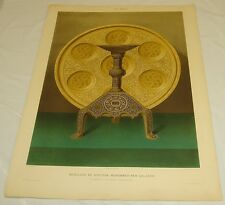 c1870 Antique COLOR Print/FANCY FURNITURE OF SULTAN MOHAMMED BEN QALAOUN