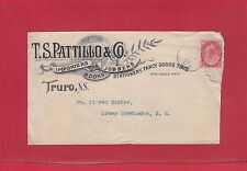 2c Numeral issue advertising cover Truro NS + Jardineville NB s/r cover Canada