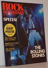 ROLLING STONES Poster Magazine Rock Superstars 1975 USA Rare Mick Jagger