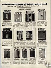 1931 PAPER AD Ronson Pocket Cigarette Lighters Lytacase Clark Wind Dodger