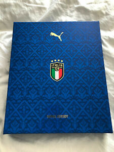 ITALY PUMA AUTHENTIC PLAYER ISSUE HOME JERSEY EURO 2020 BOXSET LIMITED EDITION $