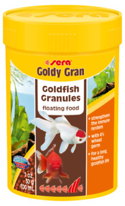 30g Sera Goldy Gran Goldfish Granules 100mL Ornamental Aquarium Tank Variety