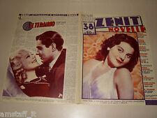 OLYMPE BRADNA=SONJA HENIE=1937/38=Novelle Zenit=Cover magazine=ACTRESS=