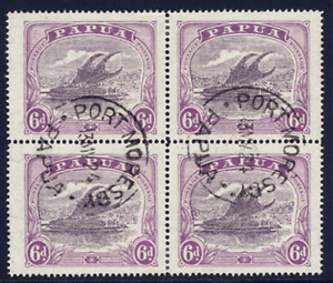 PAPUA 1916-31 LAKATOI 6D DULL & PALE PURPLE SUPERB CDS USED. GIBBONS NUMBER 101.