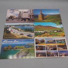 Lote de 6 Cornwall Gran Bretaña Recuerdo Tarjetas Postales United Kingdom