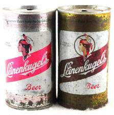 Qty. 2 Leinenkugel's Beer Can Steel Top Opened 12 fl oz Free Shipping