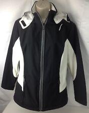 NWT Sporto Women's Hooded Jacket, Wind Guard Black White Size S