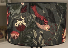 Lampshade - Handmade - IKEA FILODENDRON Fabric - Flowers - Birds - Butterfly