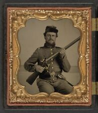 American Civil War Union Soldier Bayonet North 1865 USA 6x5 Inch Reprint Photo