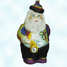 Larry Fraga Midnight Santa Ornament Rainbow Tuxedo PocketWatch 2002 5870 MwT