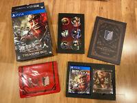 ATTACK ON TITAN TREASURE BOX Limited Edition JAPAN Ver PS4 PlayStation 4