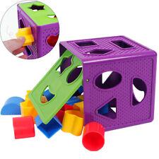 1pcs Baby Blocks Blocks Multi Shapes Color Recognition Toys Box Shape Sorter Toy