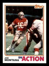 JOE MONTANA IN ACTION  82 TOPPS 1982 NO 489 NRMINT+  9600