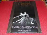 COLL.J.LE BOURHIS DANSE BALLET/ AFFICHE OPERA PARIS GARNIER GALAS D'ETOILES 1991
