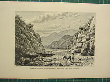 c1890 ANTIQUE PRINT CHINA NAN-KOW SOUTHERN GATE OF THE GREAT WALL FROM PATA-LING