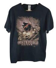 Disturbed Asylum para hombre Camiseta Negro Talla Grande L de manga corta banda de metal 2012
