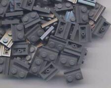 Lego 20 x Dark Bluish Gray Plate, Modified 1 x 2 with Door Rail 32028 new