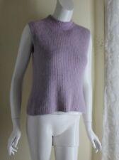 Adrianna Papell -Sz 8 M Soft Purple 70% Angora Ribbed Knit Sweater Shell Top
