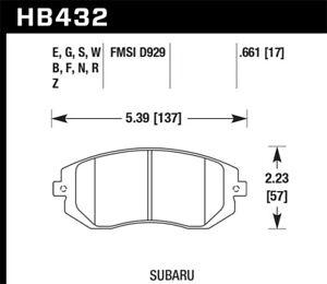 Hawk 2006-2006 for Saab 9-2X 2.5i HPS 5.0 Front Brake Pads